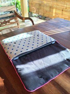 14.04.13 Couture : sacoche ordinateur et étui pour téléphone portable                                                                                                                                                                                 Plus