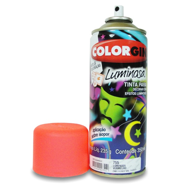 Tinta Spray Colorgin Luminosa Vermelho