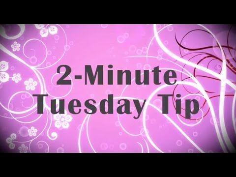 Simply Simple 2-MINUTE TUESDAY TIP - Adhering Vellum Perfectly by Connie Stewart - YouTube