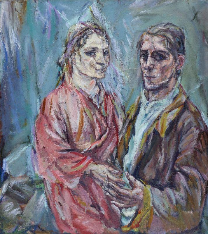 Oskar Kokoschka, Doppelbildnis Oskar Kokoschka und Alma Mahler, 1912/13 © Museu…