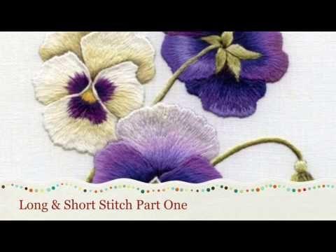 Long & Short stitch shading part one by Trish Burr - YouTube