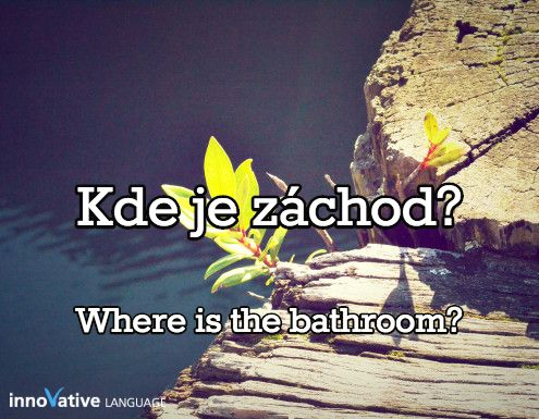 Kde je záchod? is Where is the bathroom? in Czech. Click here to get FREE audio by a native speaker: http://www.czechclass101.com/czech-vocabulary-lists/top-15-questions-you-should-know-for-conversations #czech #learnczech #czechclass101 #czechrepublic