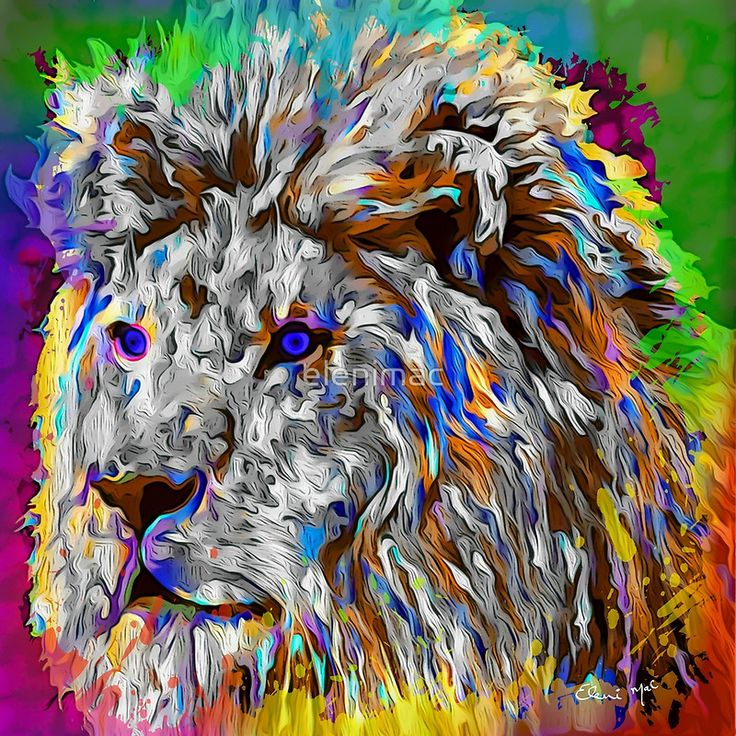 Lion King Pop Art Painting www.macsnapshot.com
