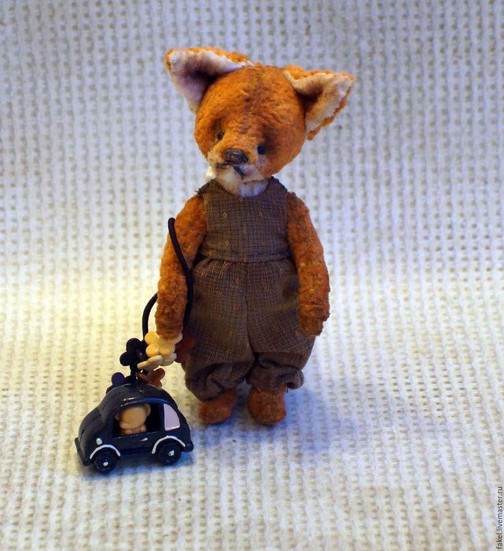 Купить Венди, тедди-лисенок - оранжевый, мишка тедди, мишка ручной работы, тедди лис