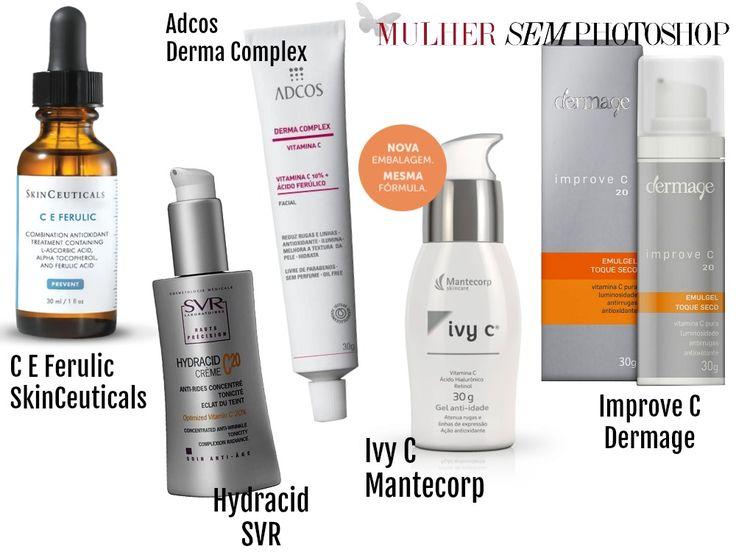 26 vitamina C para o rosto - produtos com vitamina c para  o rosto, com preços e indicação de uso. Vitamina C é um excelente produto para tratar manchas na pele e um antioxidante maravilhoso, previne o envelhecimento
