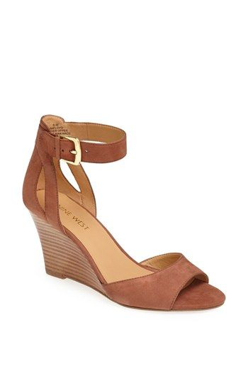 Nine West 'Floyd' Stacked Wedge Sandal available at #Nordstrom