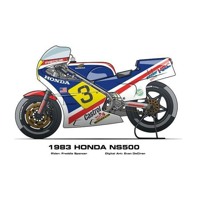 Honda ns 500 83