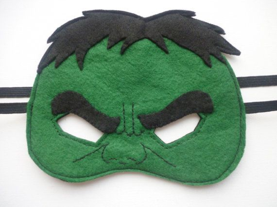 Felt HULK mask for dressing up/costume/fancy dress/superhero mask