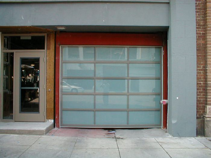 Model: Size: X Frame: Powder Coated Light Gray Glass: Laminated Obscured:  White Location: San Francisco, CA 94109