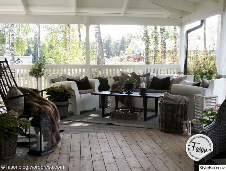 Veranda i New England och artwood stil