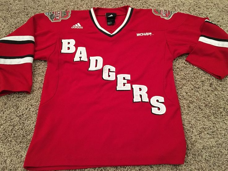 ... Wisconsin Badgers Red Hockey Jersey Youth Small Medium Adidas Camp  Randall eBay .