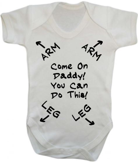 Come on daddy you can do this new dad baby grow vest by theTbird