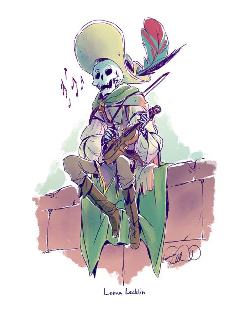 Leena Lecklin Undead Bard | character reference | Character