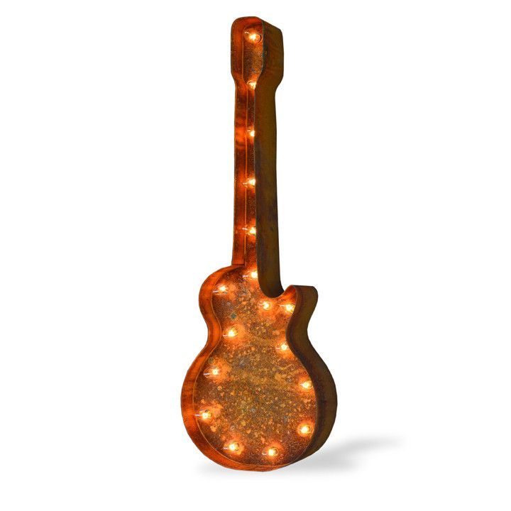 guitar icon symbol marquee light from the rusty marquee marquee lighted symbols marquee. Black Bedroom Furniture Sets. Home Design Ideas