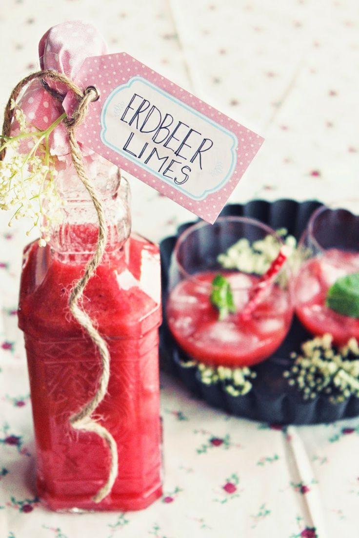 Erdbeer-Vanille Limes - Erdbeer-