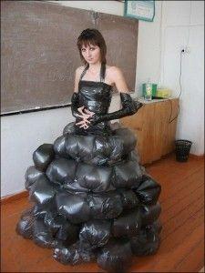 Vestidos de época con bolsas reciclables | Disfraces 10