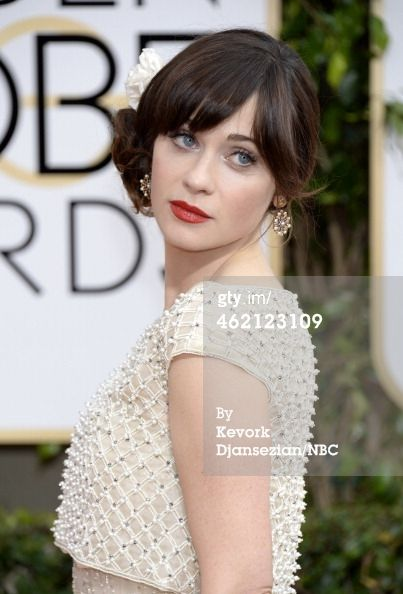 92 best chignon inspiration images on pinterest chignons for Zooey deschanel wedding dress