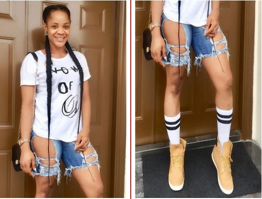 Lmao, Nollywood actress Uche Ogbodo who narrowly escaped being beaten up by an alleged military personnel weeks ago, despite he was the o...