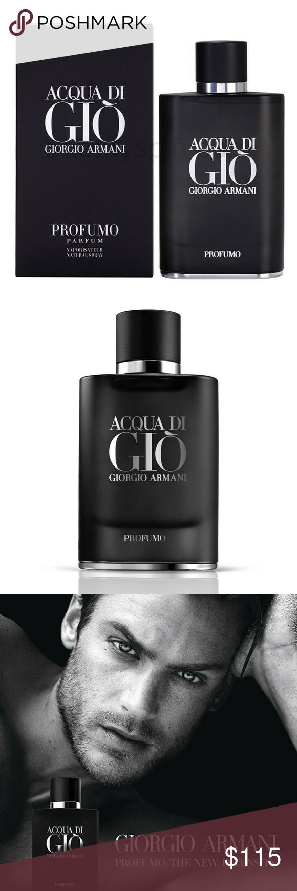 Acqua Di Gio Profumo x Giorgio Armani We are a store. 100% authentic or your money back. Let me know if your looking for something else so we can list it for you. Thanks.   Price is firm as these are new products.  Paco Rabbane   Giorgio Armani   Hugo Boss   Bulgari   Versace   Givenchy   Gucci   YSL   Burberry   Ralph Lauren   Dior   Dolce & Gabbana   Jean Paul   Coach   Creed   Marc Jacobs   Valentino   Vince Camuto   Jimmy Choo   Cartier   Lancome Giorgio Armani Other