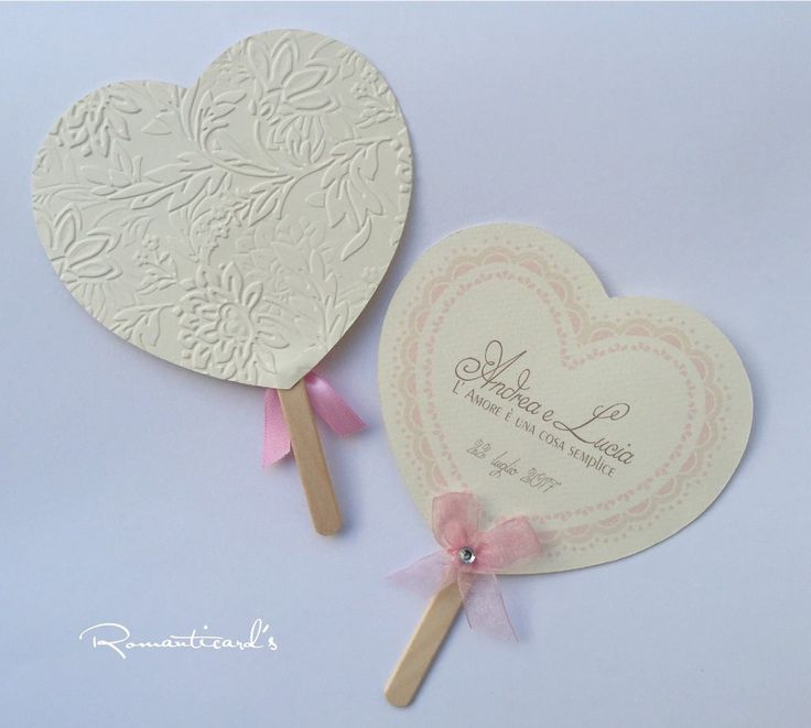 Ventaglio personalizzato per Cerimonie by Romanticards , by Romanticards e Little Rose Handmade, 0,90 € su misshobby.com