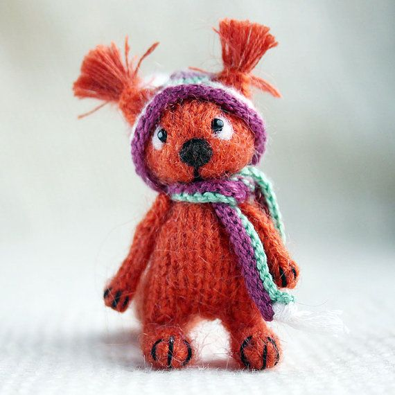 Squirrel in winter hat by SecretFriends on Etsy