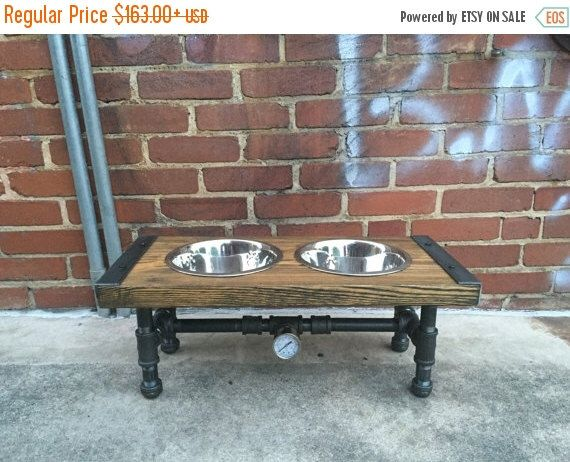 10% OFF Industrial Dog Feeder, Dog Bowl, Pet Feeder, Pet Supplies, Pet Feeding, Elevated Dog Bowl, Raised Dog Bowl, Pipe Furniture, Industri by TheCleverRaven on Etsy https://www.etsy.com/listing/463425691/10-off-industrial-dog-feeder-dog-bowl