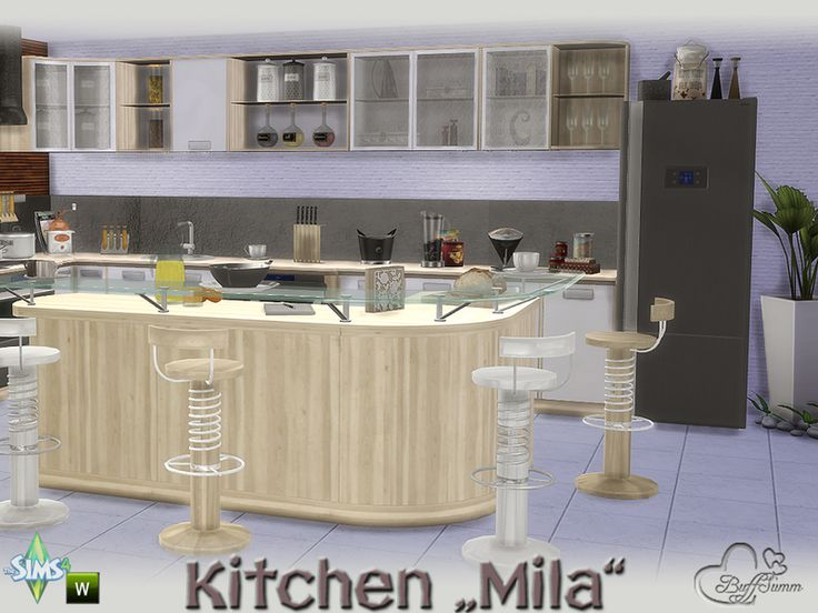 Lana CC Finds   Kitchen Mila By BuffSumm