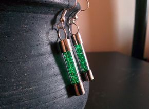 Picture of How to create earrings using blown electric fuse