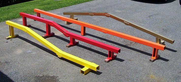 Skateboarding rails