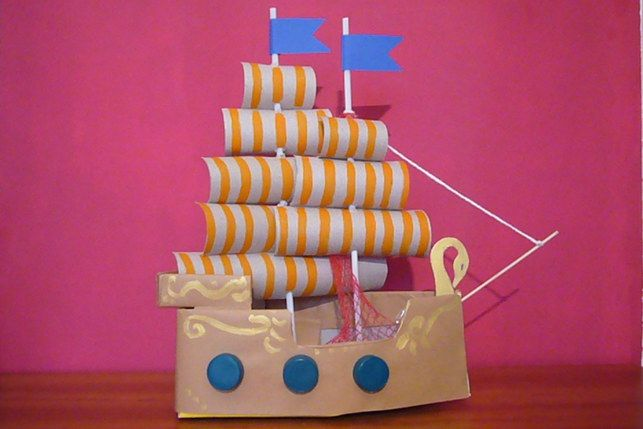 come costruire la nave dei pirati pirates of the carribean ship diy activity with children