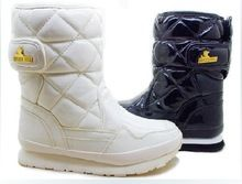 Fashion rubber duck boots waterproof snow boots women snow joggers sporty quilted boots shiny PU EUR35-EUR40 free shipping(China (Mainland))