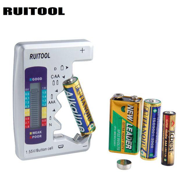 Digital Battery Tester Universal Battery Capacity Tester For Aa Aaa 1 5v 9v Lithium Battery Power Supply Checker Meas Lithium Battery Batteries Testers Digital