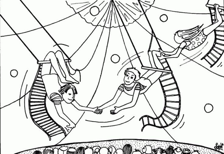 zirkus 1 ausmalbilder  ausmalbilder ausmalen
