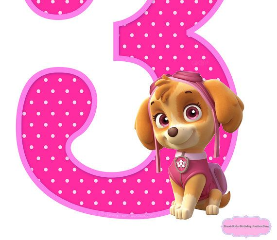 Numbers Clipart paw patrol 23 570 X