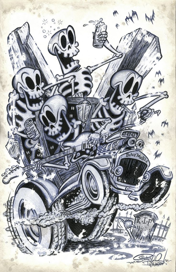 Kustom Cars Of The 50S | ... ILLUSTRATIONS | SOCAL KUSTOM KULTURE KARTOONS | The Selvedge Yard