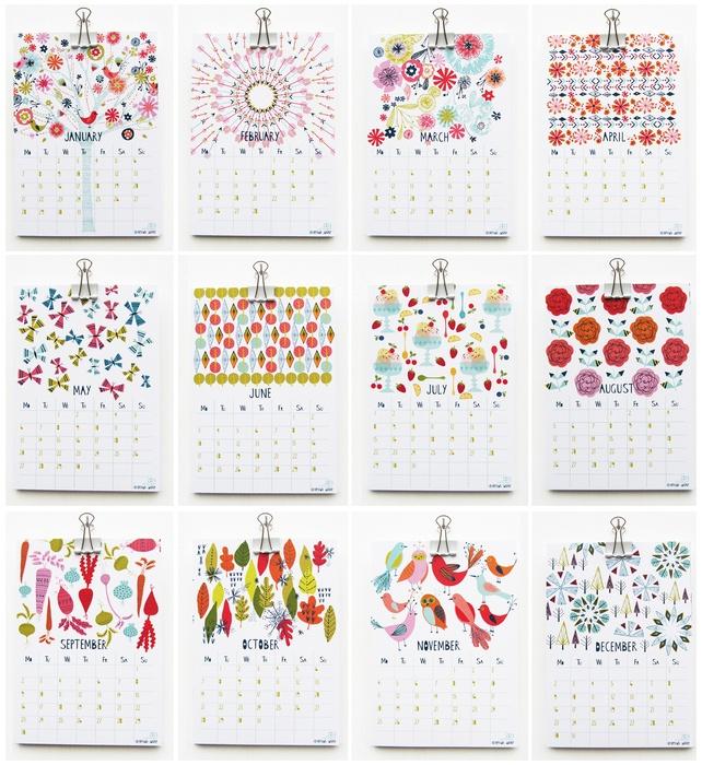 2013 desk calendar - Designed by Bethan Janine Westran