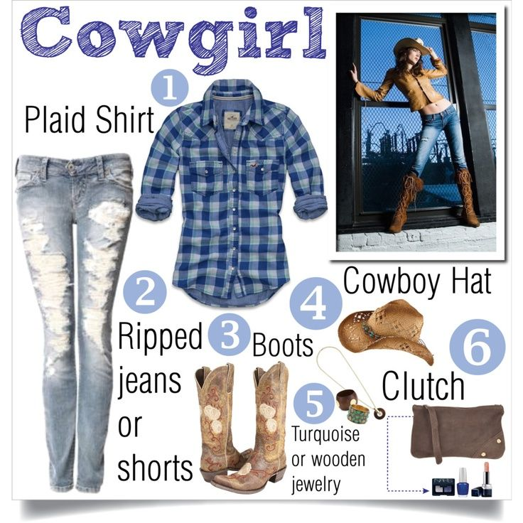 DIY Cowgirl Costume... Annie is going to be a Cow, so I need to be a cowgirl or a farmgirl
