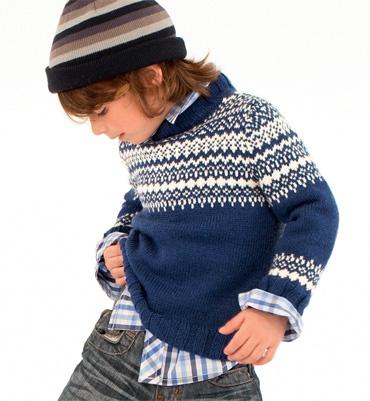 Modèle pull garçon manches longues - Modèles tricot enfant - Phildar