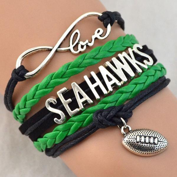 Infinity Love Seahawks Fan Bracelet