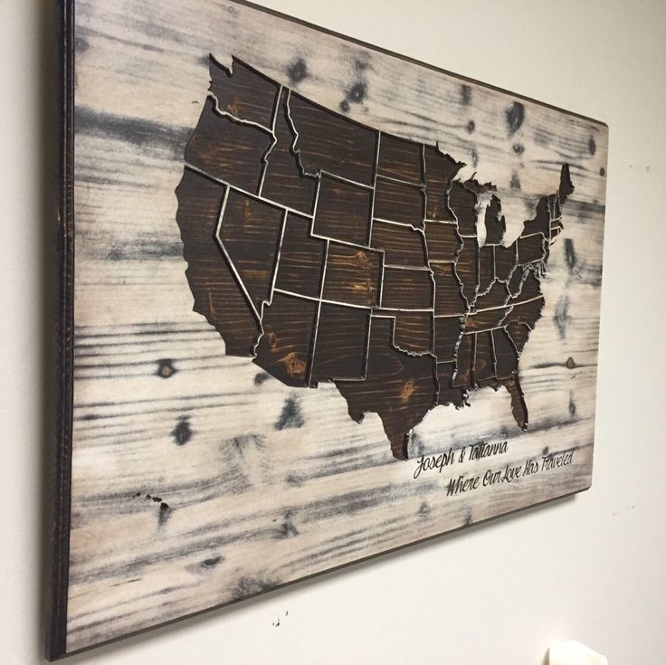 Best Art Images On Pinterest Wood Wall Art Wood Walls And - Wood us map