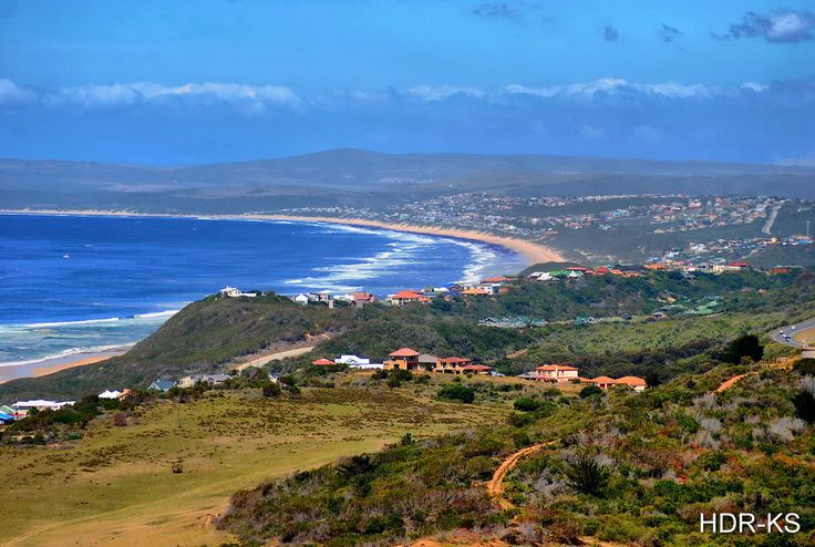 A view of Moselbay taken from the road above Glentana, South Africa.