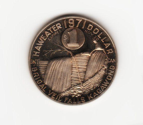 Manitoulin Island  Haweater 1971  One Dollar Coin  by HannahsStuff