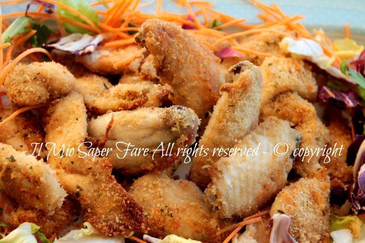 Alette di pollo al forno con panatura aromatica ricetta il mio saper fare