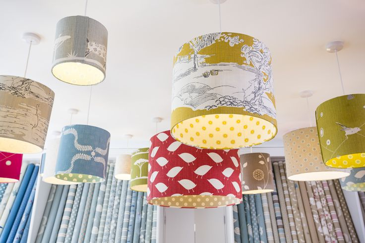 A selection of Drum Lampshades - Vanessa Arbuthnott Showroom Cirencester
