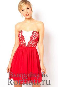 Шьем платье без рукавов. Простое по крою, изящное платье без рукавов, в котором эффектно сочетаются ткани разных фактур. Выкройка платья - бесплатно!