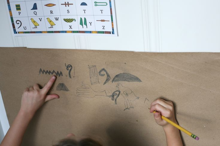 hieroglyphics writing assignments
