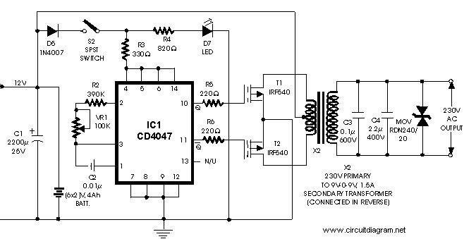 100 Watt Inverter 12VDC to 220VAC with Mosfet   Electrical ...