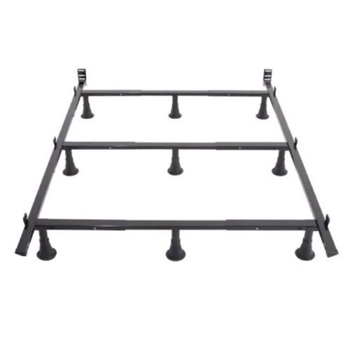 this sturdy premium metal bed frame with headboard brackets is perfect for any standard size twin full queen king or california king mattress and boxsprin