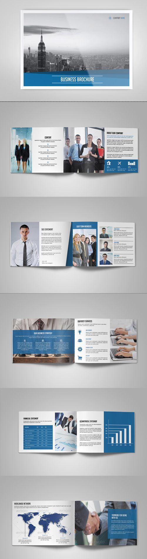 Business Brochure Catalog Template