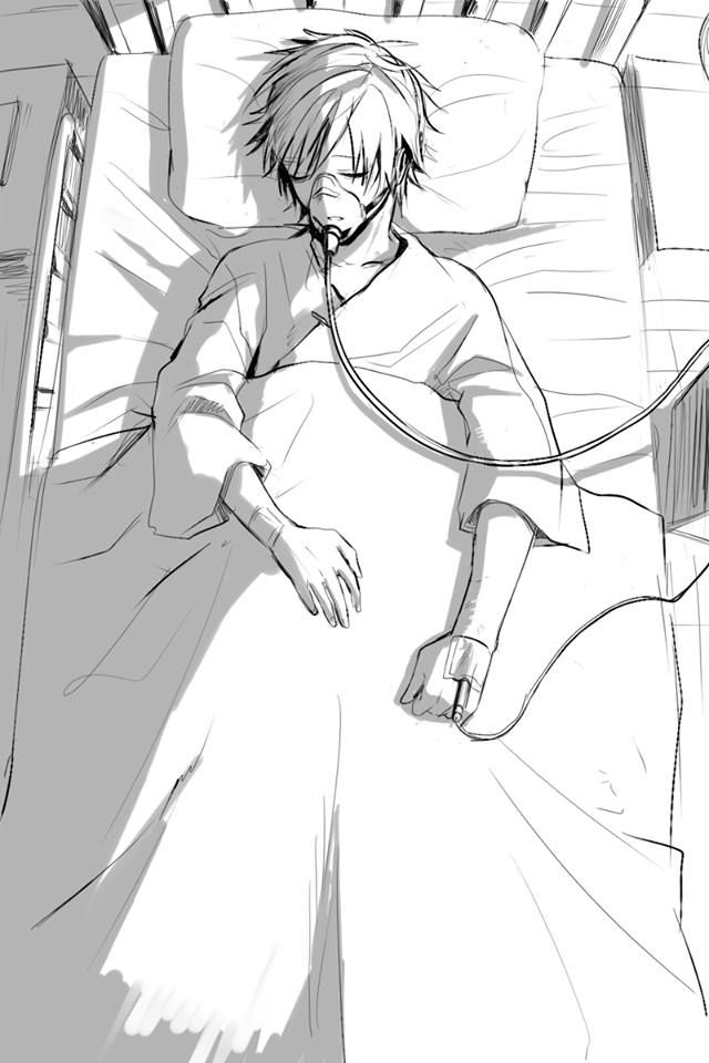 """((Open RP, be the boy. PLZ GIVE CREDIT!)) I ran into the room where my best friend lied, he had attempted suicide that night when his brother found him close to death.. I began to bawl. """"Please be ok!"""" I cried."""